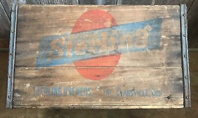 Sterling Brewers Inc Evansville Indiana Wooden Crate Vintage Mid-Century lot 115