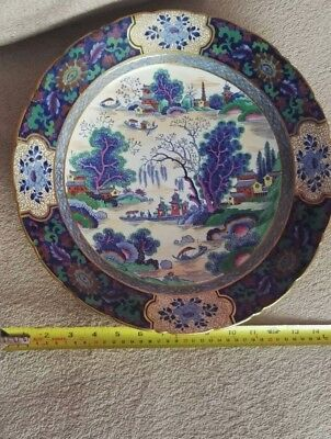 Vintage antique Chinese porcelain  plate beautiful condition 14inches across