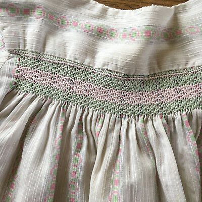 Vintage 1960s child's handmade smocked dress