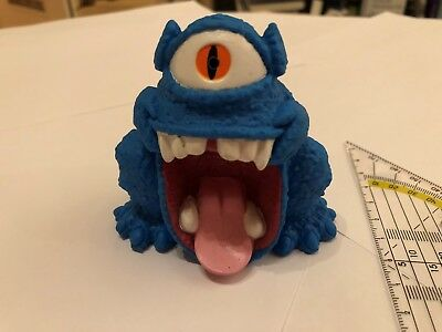 1984 Columbia Pictures The Real Ghostbusters Blue Monster Squeeze Blau Monster