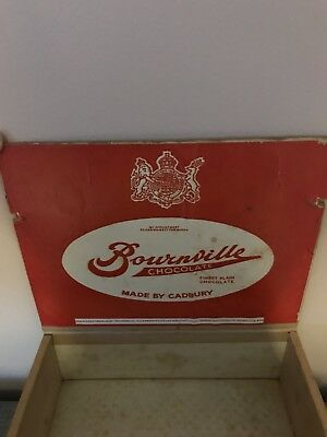 Advertising Sign Cadbury Bournville 1d Chocolate Bar Wooden Crate