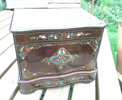 French 19th Century Boulle Work Tantalus / Decanter Cabinet