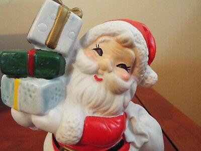 Vintage Santa Claus Holding Presents Bank