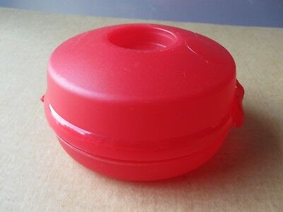 Tupperware Red Bagel Sandwich Container Hinged Lid