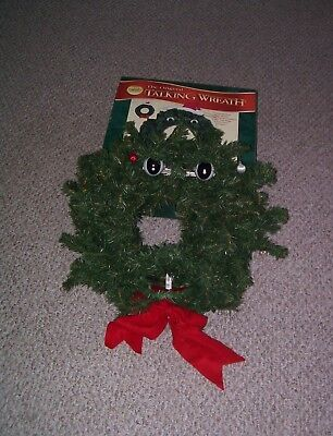 Gemmy 1997 Sound Motion Activated Singing Talking Christmas Wreath