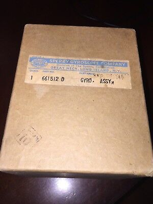 WWII SPERRY GYROSCOPE Gyro Assy Part #661512 D  Bomb site gyro factory sealed