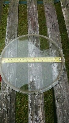 "Large Circular Convex Clock Glass Wall Clock 8 1/2"" Diameter"