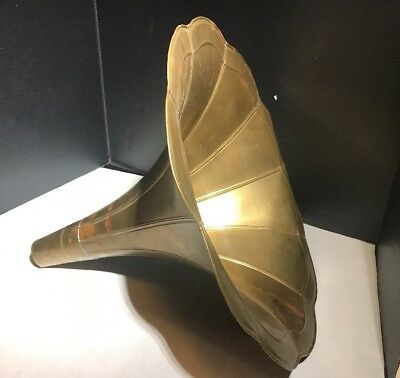 Vintage Metal Brass Horn for Phonograph or Gramophone