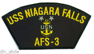 328f1764 USS Niagara Falls AFS-3 embroidered patch Master Chief USNavy combat stores  ship