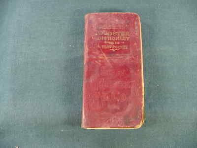 Circa 1900 Peerless Webster Dictionary for Vest Pocket Book Sears Roebuck Co