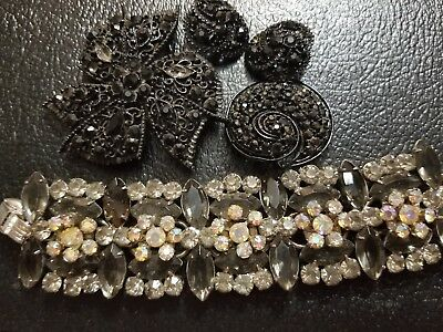 Lot of vintage antique jewelry GRANDMA'S estate Rhinestone (See Pictures) Lot BL