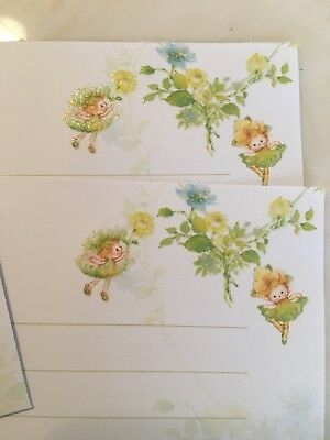 Adorable Mary Hamilton Hallmark Fairys Message From The Forest Stationary Notes