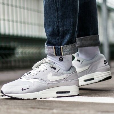 Nike Air Max 1 Premium Men s Casual Shoes Lifestyle Comfy Sneakers Pure  Platinum a5d423fe8