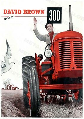 David Brown 30D Tractor Advertising - Poster (A3) - NEW