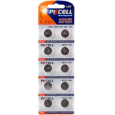 10 * AG13 LR44 Quality Button Cell Battery 1.5V Watch Small Alkaline Lithium NEW