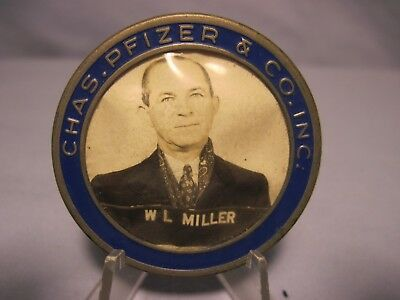 Vintage Charles Pfizer & Co. Inc. Employee Identification Badge