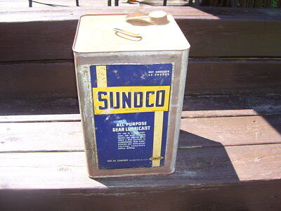 VINTAGE 40 lb. Sunoco all purpose gear lubricant  By Sun Oil Co.