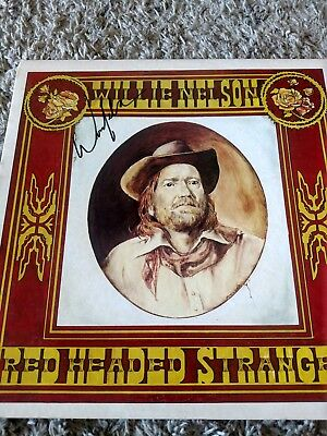 Willie Nelson signed album cover.