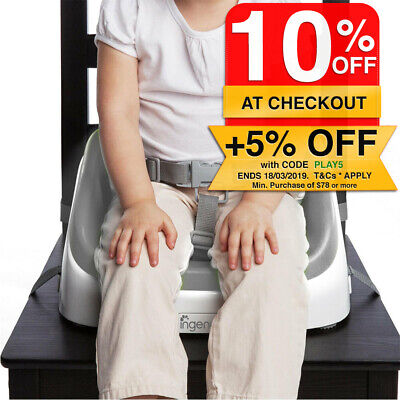 Ingenuity SmartClean Slate Kids/Toddler Portable Seat Booster High Chair 16m-5yr