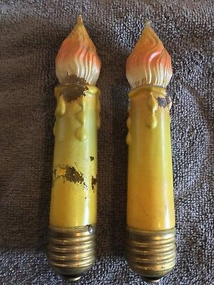 Vintage Large Candle ~ Rare HTF Working! Light Bulbs Austria Pair Christmas ?