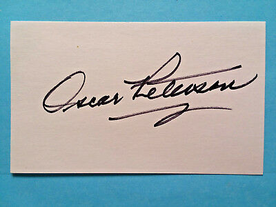 Oscar Peterson  Signed Autographed 3X5  Canadian  Jazz Pianist !  Rare Card !