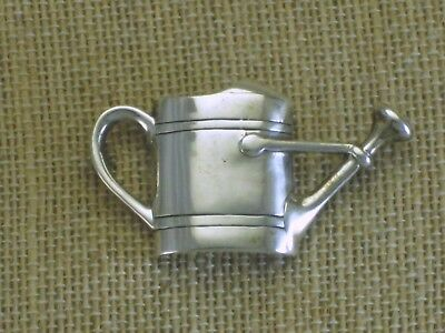 VTG Sterling Silver H&H deMatteo Watering Can Tussy Mussy Pin Brooch Flower Vase