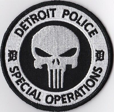 Detroit Police Special Operations Police Michigan Police patch