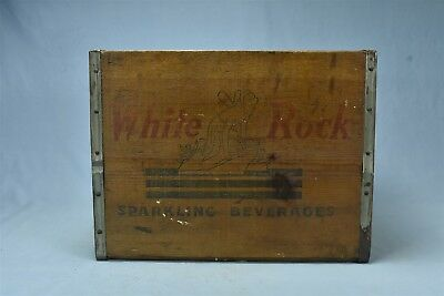 Antique ADVERTISING WHITE ROCK of OREGON SPARKLING BEVERAGES SHIPPING BOX #05698
