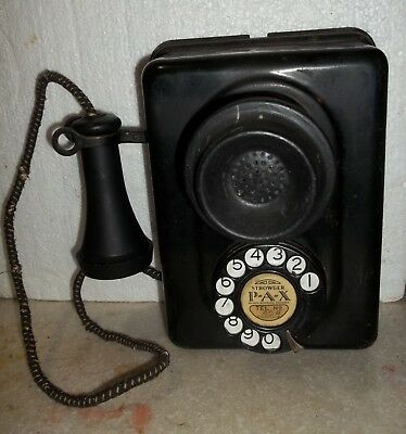 Early Strowger PAX Dial Wall Telephone