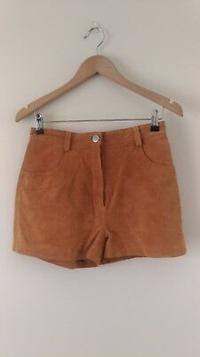 Asos Vintage Style Suede Leather Tan Shorts