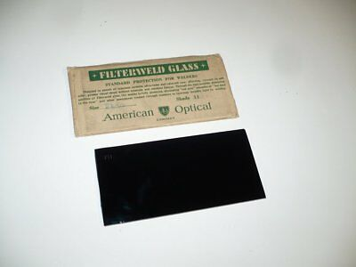 Vintage AO American Optical Filterweld Welding Glass Lens Shade 11 - in sleeve