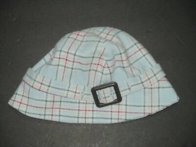 Girls Janie And Jack English Autumn Blue Plaid Wool Hat Size 6 7 8