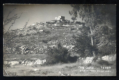 Israel The Castle Real Photo Postcard 1952 to U.S.A.