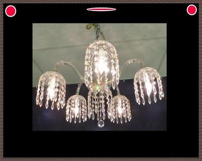Vintage Italian Crystal Chandelier Total of 318 Stunning Leaded Crystals  WOW!