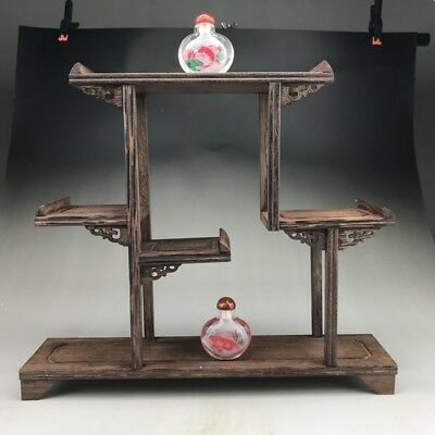Chinese handmade chicken wing wood display rack / snuff bottle / ornaments