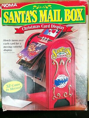 Vintage Santa's mail box 52 christmas cards in motion display!