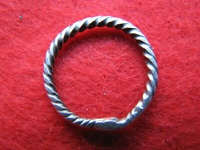 Viking Solid Silver Twist Ring From An Old Collection
