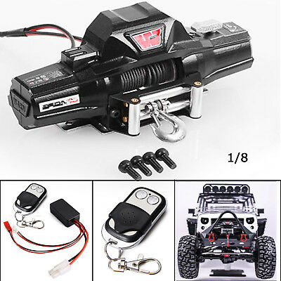 Metal Double Motor Winch for 1/8 RC Rock Crawler RC4WD D90 Axial SCX10 TRX-4 KM2
