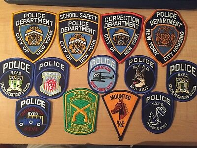 NYPD New York City police patch - Lot of 13