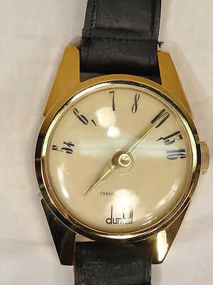 Vtg Dunhill Lighter Wristwatch Am Radio Wall Hanging Mid Century Store Display