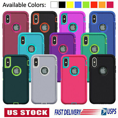 For iPhone 6 7 8 Plus 11 Pro XS Max XR X Case Heavy Duty Shockproof Rubber Cover