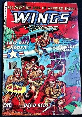 WINGS COMICS #122 FICTION HOUSE 1954 g+/vg cr-ow/p