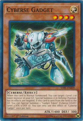 Yugioh! Cyberse Gadget - SDPL-EN009 - Common - 1st Edition Near Mint, English