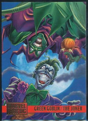 1995 DC Versus Marvel Trading Card #95 Green Goblin vs. The Joker