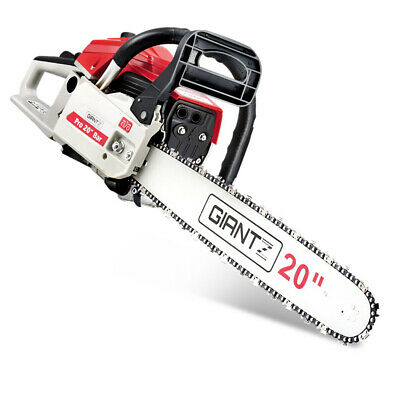 GIANTZ 58cc Commercial Petrol Chainsaw 20¡± Bar E-Start Chains Saw Tree Prunin