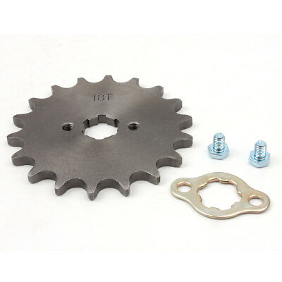 520 18T Front Sprocket with Retainer Plate for Dirt Pit Bike ATV Go-kart