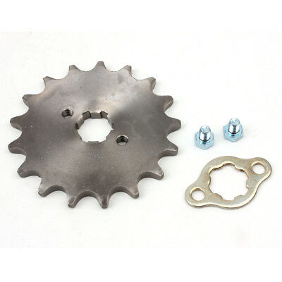 520 17T Front Sprocket with Retainer Plate for Dirt Pit Bike ATV Go-kart