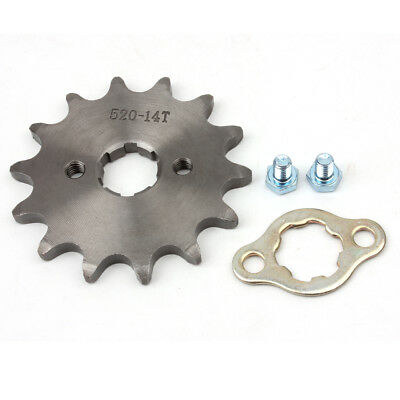520 14T Front Sprocket with Retainer Plate for Dirt Pit Bike ATV Go-kart