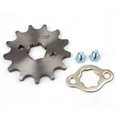 520 13T Front Sprocket with Retainer Plate for Dirt Pit Bike ATV Go-kart