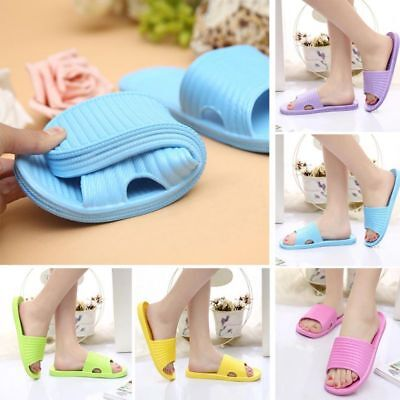AU Women Bathroom Slippers Indoor Shower Slides Home Soft Anti-slip Beach Shoes